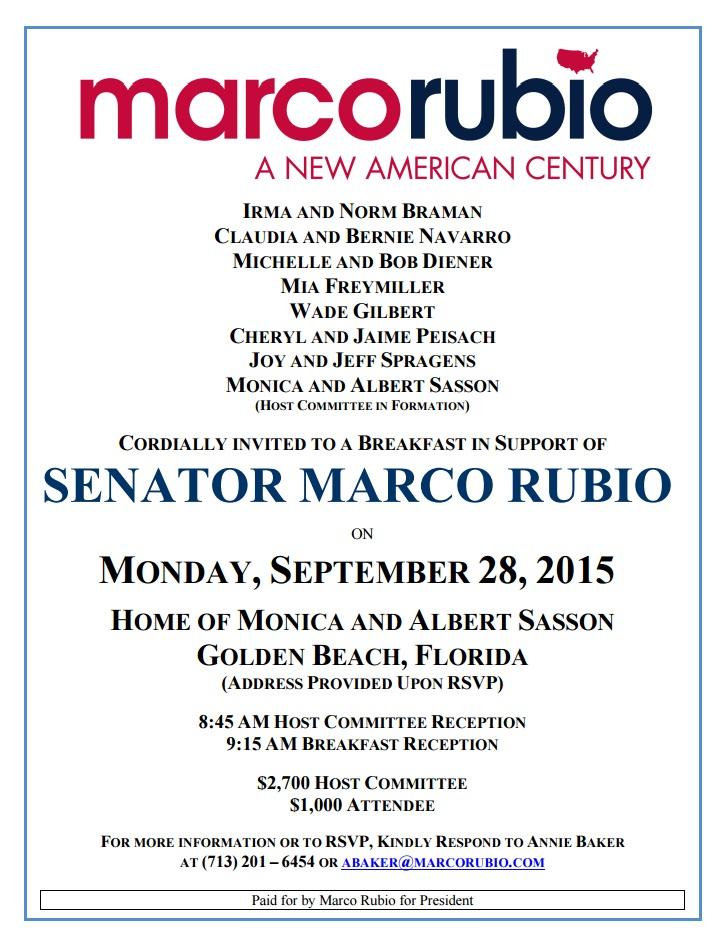 Marco Rubio Invite 2