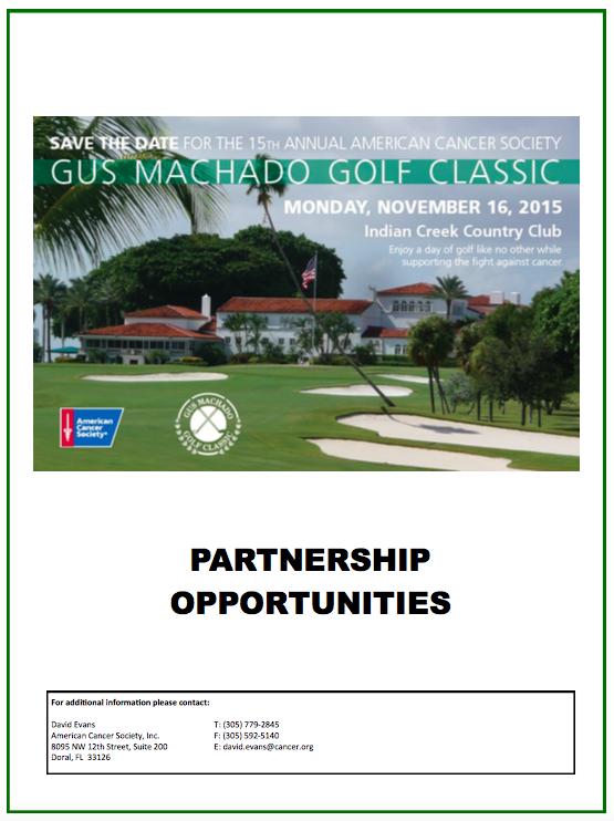 Sponsorship opportunites Golf ACS