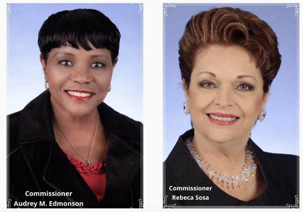 Commissioner Audrey M. Edmonson & Commissioner Rebeca Sosa