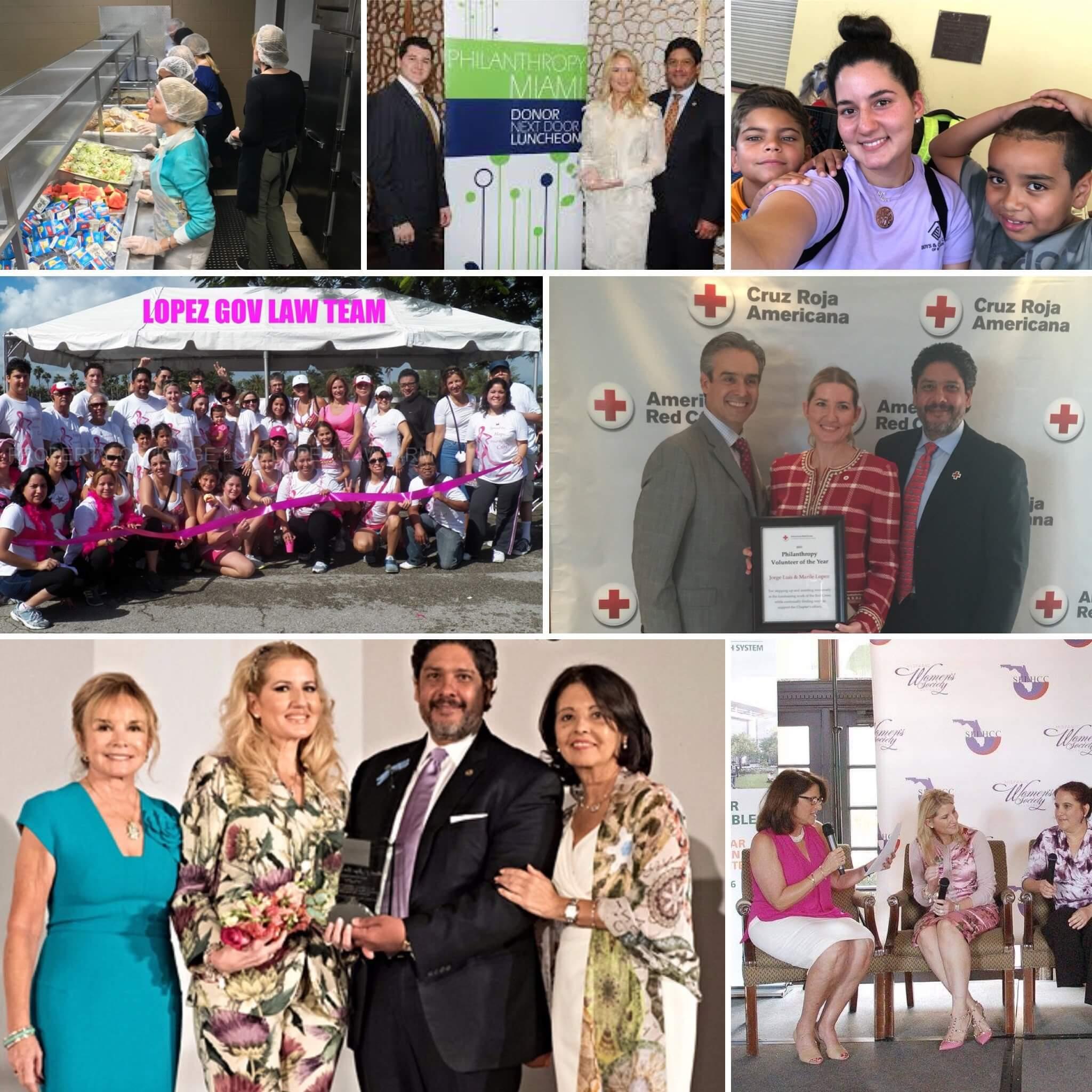 Marile & Jorge Luis Lopez, Esq. philanthropy